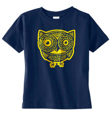 Owl T-Shirt in Navy