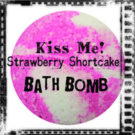 Kiss Me! Strawberry Shortcake Bath Bomb