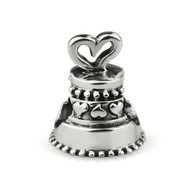 """Heart of Hearts"" Wedding Cake Charm-Sterling Silver"