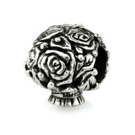 """Pavè Rose"" Bridal Bouquet Charm-Sterling Silver"