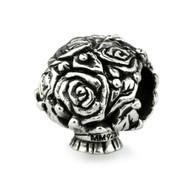 """Pavè Rose"" Bridal Bouquet Charm-Sterling Silver"