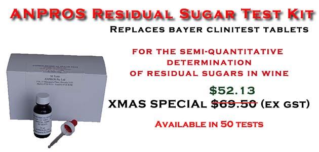 Residual Sugar Test Kit