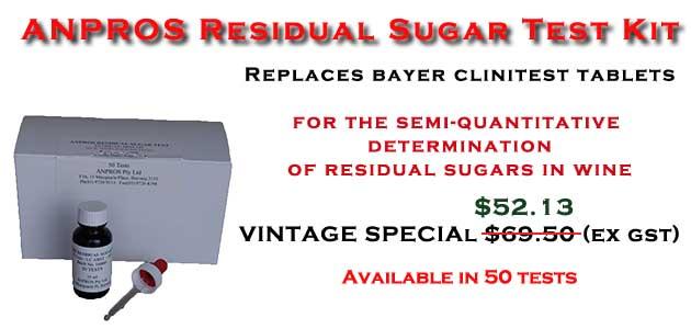 Residual Sugar Test Special