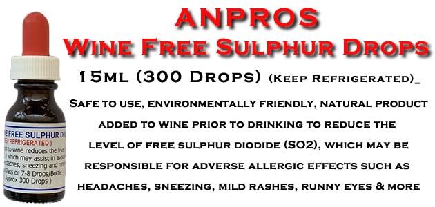 Wine Free Sulphur Drops