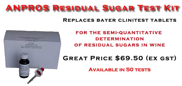 Residual Sugar Test Kit
