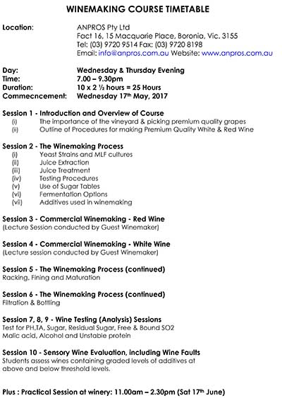 WINEMAKING COURSE TIMETABLE.docx