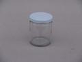 CLEAR GLASS JAR 190ml 63mm WHITE TWIST LID