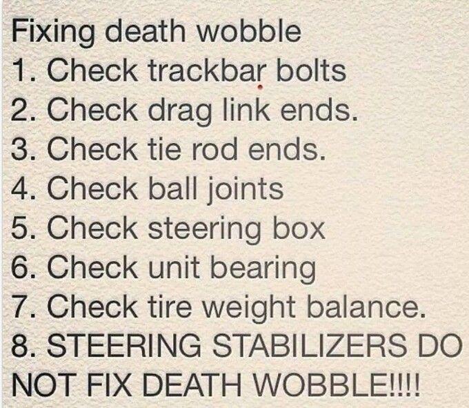 Death Wobble What It Is What Causes It And How To Fix And Prevent