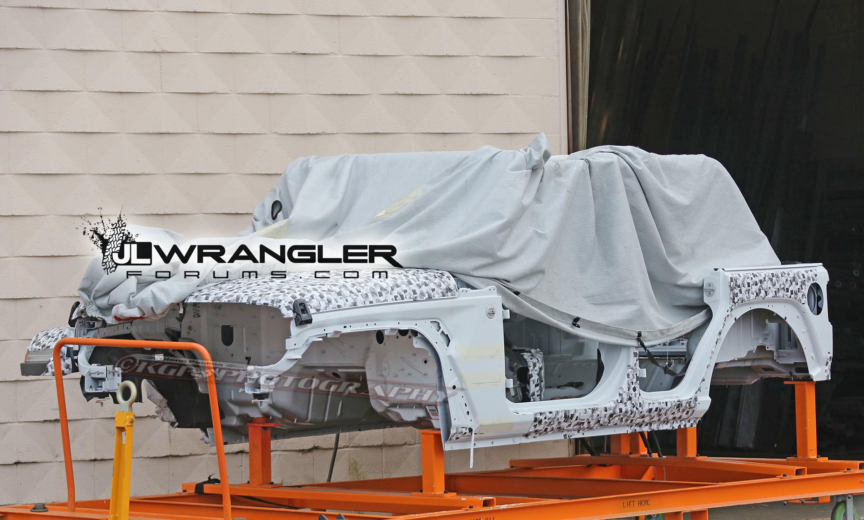 Jeep Wrangler Jlu Uncovered Body Shell And Exterior Shots
