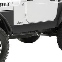 Smittybilt 76870 XRC Rock Sliders in Textured Black for Wrangler TJ 1997-2006