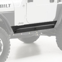 Smittybilt 76871 XRC Rock Sliders w/ Step in Textured Black for Wrangler TJ 1997-2006