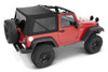 Bestop 54822-17 Supertop NX Soft Top in Black Twill for 2 Door Jeep Wrangler