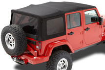 Bestop 54823-17 Supertop NX Soft Top in Black Twill for 4 Door Wrangler JK