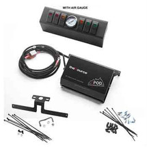 sPOD JK Six Double LED Switch Kit with Air Gauge