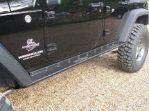 Rock Hard 4x4 Boat Side Rock Sliders with Smooth Plate JK 4 Door