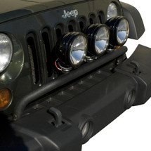 Rugged Ridge 11232.20 Black Powder Coated Bumper Mounted Light Bar for Jeep Wrangler JK 2007-2016