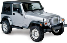 "Bushwacker 10917-07 4.75"" Pocket Style Fender Flares for Jeep Wrangler TJ/LJ 1997-2006"