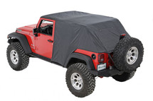 Pavement Ends  56815-01 Emergency Top in Black for Jeep Wrangler JK 4 Door 2007-2016