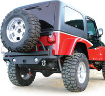Rampage Products 76610 Rear Recovery Bumper with Tire Swing for Jeep Wrangler YJ -TJ/LJ 1987-2006