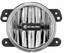 "KC Hilites 1494 4"" Gravity LED Fog Light Replacement for Jeep Wrangler JK 2007-2016"