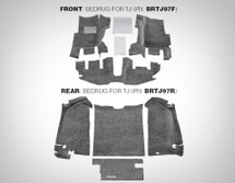 BedRug BRTJ97R Rear Four Piece Floor Liner kit for Jeep wrangler TJ 1997-2006