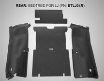 BedRug BTLJ04R BedTred Rear Cargo Liner Kit for Jeep Wrangler LJ 2003-2006