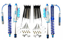 EVO MFG EVO-1010-44 Front Double ThrowDown Coilover/Bypass System Dana 44 for Jeep Wrangler JK