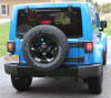 JW Speaker Tail Lights Mounted and Illuminated on Wrangler JK