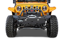 Body Armor 4x4 JK-19532 Front Mid-Stubby Winch Bumper for Jeep Wrangler JK 2007-2016