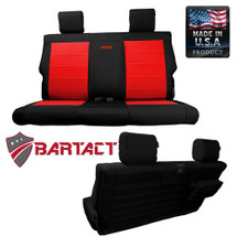 Bartact MSSCJK2D0710R Rear Bench Seat Cover for Jeep Wrangler JK 2 Door 2007-2010