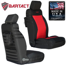 Bartact MSSCJK0710ACF Mil-Spec Air Bag Compliant Front Seat Cover Pair for Jeep Wrangler JK 2007-2010