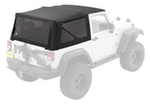 Bestop 79836 Black Twill Replace-A-Top with Tinted Windows for Jeep Wrangler JK 2 Door 2007-2009
