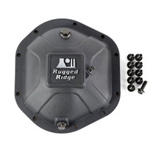 Rugged Ridge 16595.12 Boulder Aluminum Diff Cover in Matte Black for Dana 44 Axles