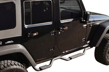 "Rampage Products Slimline 2"" Side Bars with Recessed Step for JK 4 Door"