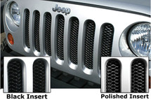 Rampage Products 86512 3D One Piece Grill Insert for Jeep Wrangler JK 2007-2016