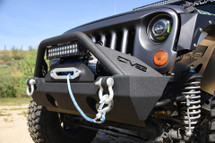 DV8 Offroad FS-15 Hammer Forged Stubby Front Bumper with Fog Light Provisions for JK