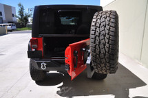 DV8 Offroad RBSTTB-02 RS-2 Single Action Rear Bumper and Tire Carrier for Jeep Wrangler JK 2007-2016