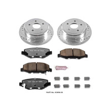 Power Stop K3090 Rear Z23 Evolution Performance 1-Click Brake Kit for Jeep Wrangler JK 2007-2016