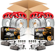 Power Stop KC2798-36 Front & Rear Z36 Extreme Performance Tow & Truck Brake Kit with Calipers for Jeep Wrangler JK 2007-2016