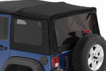 Bestop 58447-17 Tinted Window Kit for Twill Replace-A-Top NX for Jeep Wrangler JK 4 Door 2007-2009