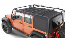 Smittybilt SRC Roof Rack in Textured Black- 4 Door (Wrangler JK 2007+)