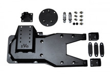 EVO Manufacturing Pro Series Hinged Gate Carrier- Black (Wrangler JK 2007+)