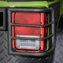 Body Armor 4x4 Wrap Around Tail Light Guards in Black (Wrangler JK 2007+)