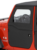 Bestop 51798-17 2-Piece Soft Top Front Doors in Twill for Jeep Wrangler JK 2007-2018