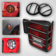 Rugged Ridge 10 Piece Euro Guard Light Kit in Black (Wrangler JK 2007+)