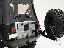 Smittybilt XRC Heavy Duty Rear Bumper with Tire Carrier for Jeep Wrangler TJ & LJ 1997-2006 | 76653 76654