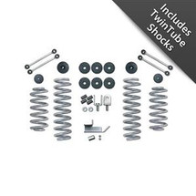 Rubicon Express RE7002T 3.5 inch Standard Coil Lift Kit with Twin Turbo Shocks for Jeep Wrangler TJ/LJ 1997-2006
