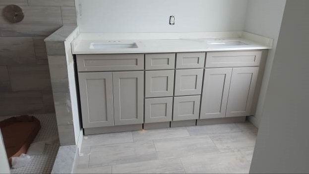 A New Range Stone Harbor Gray Kitchen Cabinet Warehouse - Stone grey kitchen cabinets