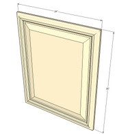 Biltmore Pearl Base Decorative Door - 24 Inch Wide x 30 Inch High