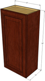Small Single Door Brandywine Maple Wall Cabinet - 15 Inch Wide x 30 Inch High